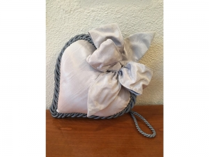 Stoff-Herz gross - handmade - hellblau