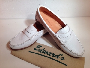 Edward's - Damen-College-Softlederschuh - weiss