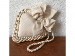 Stoff-Herz gross - handmade - beige