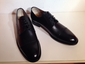 Calpierre - edler Herren-Lederbusiness-Schuh - schwarz