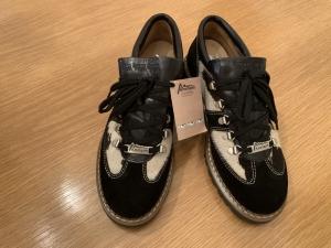 Ammann - Wildleder Schuhe mit Kuhfelleinsatz - schwarz